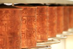 Amoladoras budistas del rezo Imagen de archivo libre de regalías