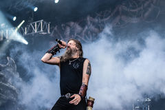 Amon Amarth habitent dans Hellfest 2016 Photos stock