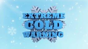 Amonestador del tiempo extremo y consultivo fríos stock de ilustración