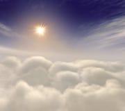 amongst den heavenly stigningssunen för oklarheter vektor illustrationer