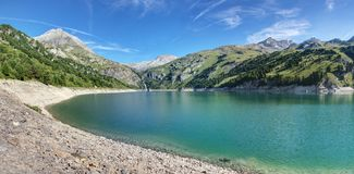 `Amont lake` Aussois - Savoie - France. `Amont lake` Aussois - Valley of Maurienne - Savoie - France Royalty Free Stock Images