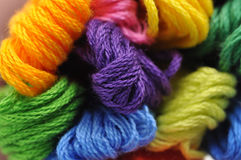 Amorçage coloré de broderie Photos stock