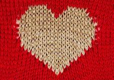 Amorçage d'or de coeur de Knit Image stock