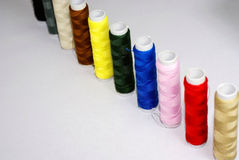 Amorçage de coton pour la couture Photographie stock libre de droits