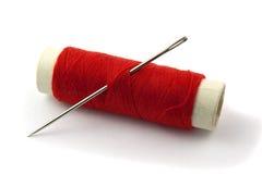 Amorçage de couture sur la bobine Photos libres de droits