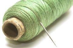 Amorçage de couture vert Photographie stock libre de droits