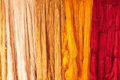 Amorçage en soie coloré Images libres de droits