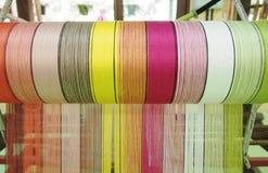 Amorçage en soie coloré Photos stock