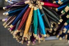 Amorçage en soie coloré Image libre de droits
