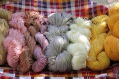 Amorçage en soie cru coloré Photo libre de droits