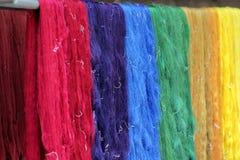 Amorçage en soie cru coloré Image stock