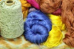 Amorçage en soie cru coloré Image libre de droits