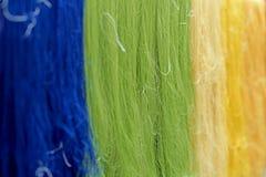 Amorçage en soie cru coloré Photographie stock