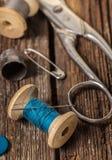 Amorçage et accessoires de couture Photo libre de droits