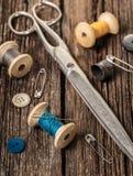 Amorçage et accessoires de couture Photos stock