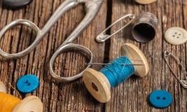 Amorçage et accessoires de couture Image libre de droits