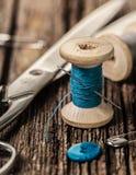 Amorçage et accessoires de couture Images libres de droits