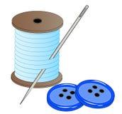 Amorçage et boutons de pointeau illustration de vecteur