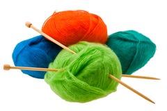 Amorçage pour le tricotage Photos libres de droits