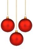 amorçage rouge d'or de Noël de babioles vibrant Image stock