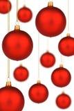 amorçage rouge d'or de Noël de babioles vibrant Photographie stock