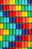 Amorçages assortis de filé coloré Photographie stock