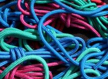 Amorçages colorés de corde d'embrouillement Images libres de droits