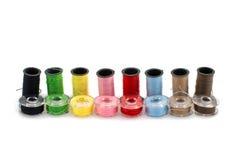 Amorçages colorés pour la broderie Image libre de droits