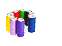 Amorçages de couture colorés Images libres de droits