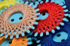 Amorçages de couture colorés Images stock