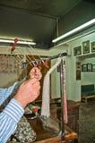 Amorçages de soie de tressage de sériciculture Photos libres de droits