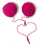 Amorçages enlacés au coeur Photo libre de droits