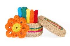 Amorçages multicolores pour la broderie Photographie stock libre de droits