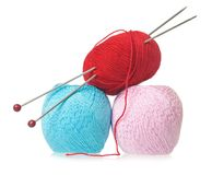 Amorçages pour le tricotage Image stock