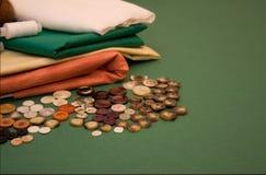 Amorçages, textile, boutons Photographie stock libre de droits