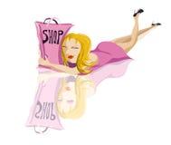 Amor à compra Ilustração Royalty Free