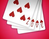 Amor 02 del póker Imágenes de archivo libres de regalías