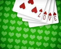 Amor 03 del póker Fotos de archivo libres de regalías