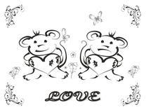 Amor Ilustração Royalty Free