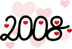 amor 2008 ilustração stock