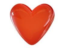 Amor 3d cg do coração ilustração do vetor