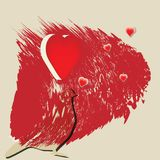 Amor abstracto del fondo del vector Fotos de archivo libres de regalías