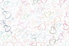 Amor abstracto para el fondo del día de San Valentín, de las celebraciones o de los ejemplos del aniversario Manojo, arte, enhora ilustración del vector