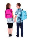 Amor adolescente - llevar a cabo las manos Fotografía de archivo libre de regalías