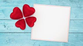 Amor afortunado que desea la bandera Imagenes de archivo