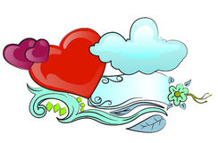 Amor além do céu e do mar Imagens de Stock Royalty Free