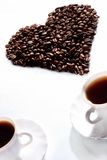 Amor al café Foto de archivo libre de regalías