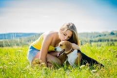Amor al perro Foto de archivo libre de regalías