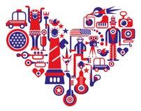 Amor América Foto de archivo libre de regalías