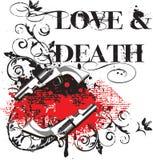 Amor & morte ilustração royalty free